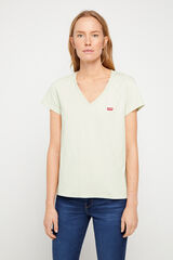 Cortefiel Camiseta Levi's® cuello pico logo pecho Verde