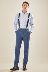 Cortefiel Pantalón traje azul grisáceo tailored fit Azul