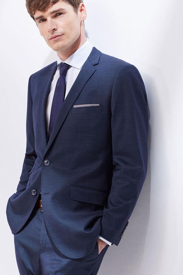 Cortefiel Americana de traje slim fit Azul 40588a022ef9