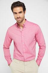 Cortefiel Camisa Oxford algodão Gobi Rosa
