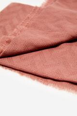 Cortefiel Fular monocolor zig-zag Rosa