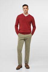 Cortefiel Pantalón chino regular Verde