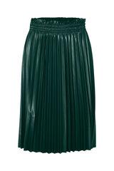 Cortefiel Falda plisada efecto piel Verde