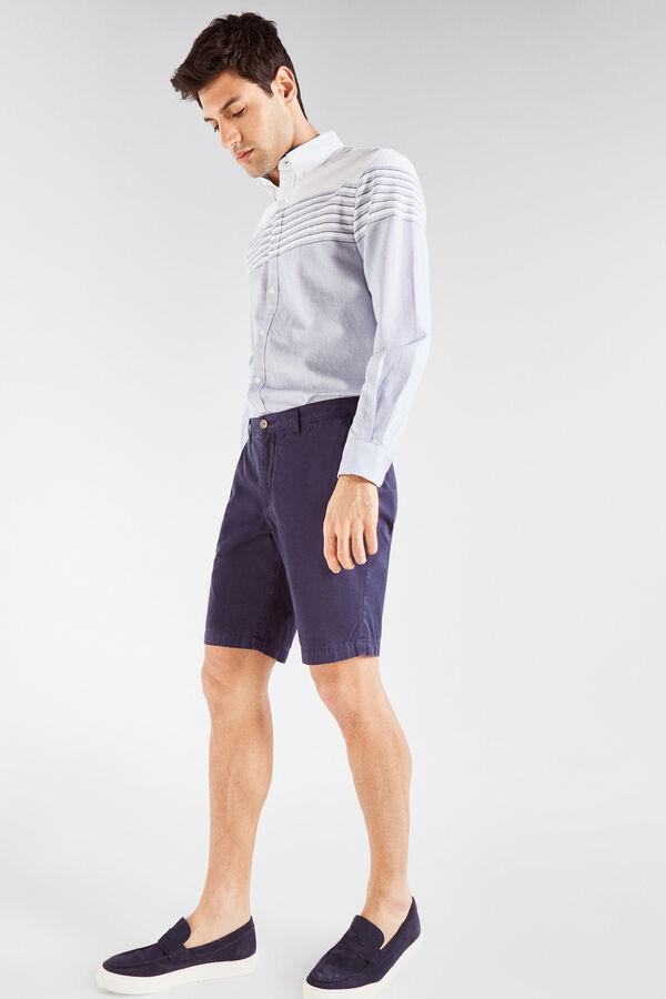 Cortefiel Bermuda lisa algodón Azul c7117407370