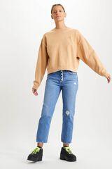 Cortefiel Sudadera Levi's® logotipo cuello redondo Amarillo