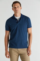 Cortefiel Polo estampado manga corta Azul