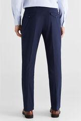 Cortefiel Pantalón chino COOLMAX® fantasía regular fit Azul