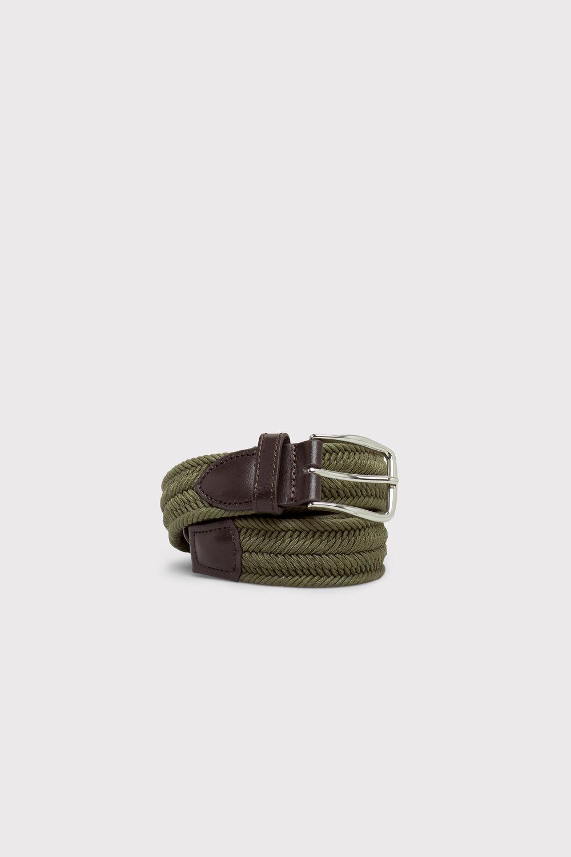 Cortefiel Cinturón trenzado Verde b42c37e238fd