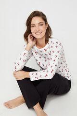 Cortefiel Camiseta Snoopy Marfil