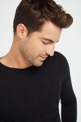 Cortefiel Jersey cuello caja Negro