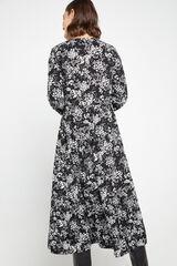 Cortefiel Vestidos folhos malha Preto