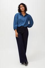 Cortefiel Camisa topos metálicos Azul