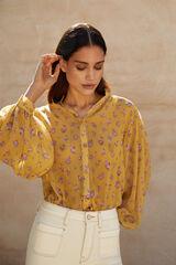 Cortefiel Camisa estampada Amarillo