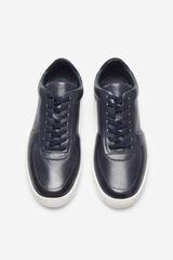 Cortefiel Sneaker piel suela goma Azul