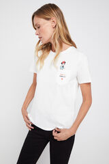 Cortefiel Camiseta días de la semana Disney Blanco