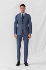 Cortefiel Americana azul grisaceo slim fit Azul