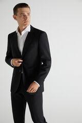 Cortefiel Americana traje negra slim fit Negro