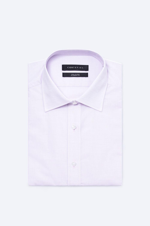 56046c8a31 Cortefiel Camisa vestir lisa fil-a-fil Rosa. Comprar