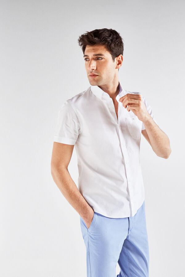 Cortefiel Camisa de manga corta lisa Blanco · Comprar 28870029ada