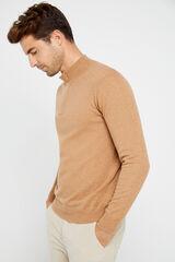 Cortefiel Jersey cuello semicisne Beige