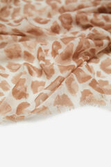Cortefiel Lenço estampagem leopardo Beige