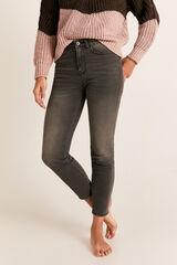Cortefiel Jeans justos cintura alta Cinzento