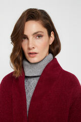 Cortefiel Abrigo largo lana mezcla Rojo