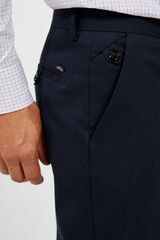 Cortefiel Calças chino regular fit Azul