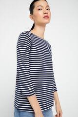 Cortefiel Camiseta escote barco algodón orgánico Varios