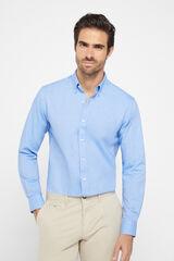Cortefiel Camisa Oxford algodón extra suave Azul