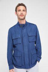 Cortefiel Chaqueta 4 bolsillos Azul