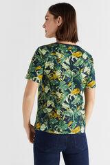 Cortefiel Camiseta algodón orgánico cuello caja Varios