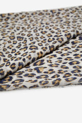 Cortefiel Fular estampado leopardo Azul