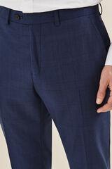 Cortefiel Pantalón traje cuadro gales tailored fit Azul