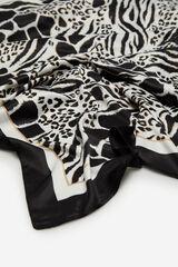 Cortefiel Pañuelo tacto sedoso estampado animal Negro