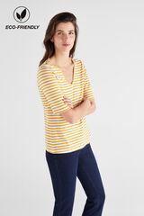 Cortefiel Camiseta algodón orgánico pico Azul