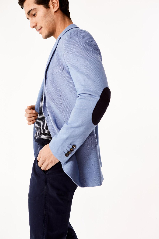 c2a62393cc7 Cortefiel Americana de punto en tailored fit Azul · Comprar