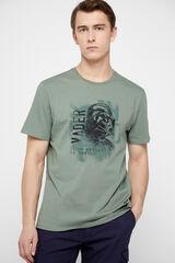 Cortefiel Camiseta Star Wars manga corta Verde