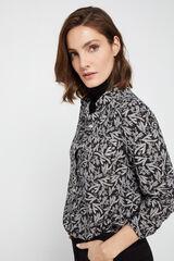 Cortefiel Camisa com bolsos Cinzento