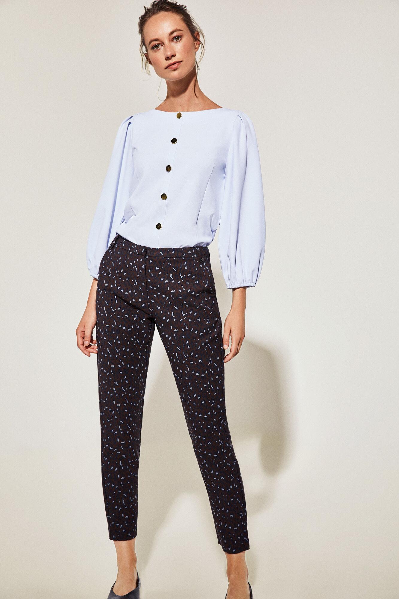 lista nueva seleccione para el último precio bajo Pantalón jacquard leopardo | Pantalones | Fifty