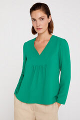 Cortefiel Blusa calidad confort Verde