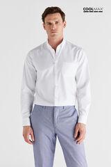 Cortefiel Camisa lisa COOLMAX® Blanco