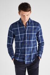 Cortefiel Camisa franela cuadros Azul