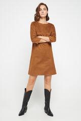 Cortefiel Vestido túnica canesú Kaki