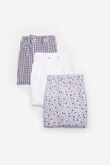 Cortefiel Pack 3 boxers de tela Blanco