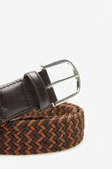 Cortefiel Cinturón trenzado textil Marrón
