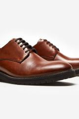 Cortefiel Zapato cordones piso flexible Marrón