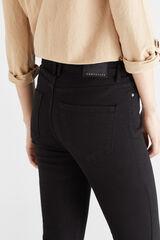 Cortefiel Calças justas botões / tecido  sustentável em denim Preto
