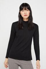 Cortefiel Camiseta perkins tacto suave Negro