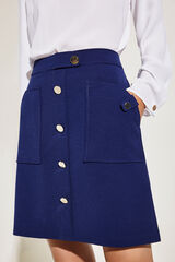 Cortefiel Falda corte slim Azul